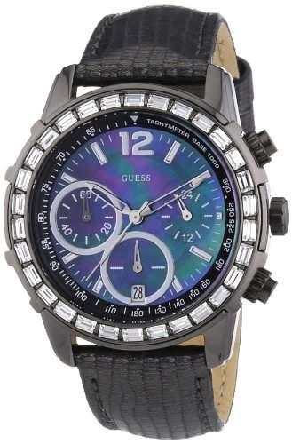 Guess Damen-Armbanduhr Lady B Analog Quarz Leder W0017L3