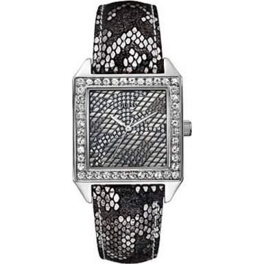 Guess Damen-Armbanduhr Savage Analog Quarz Leder W0050L1