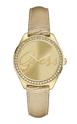 Guess Damen-Armbanduhr Analog Quarz Leder W0229L4