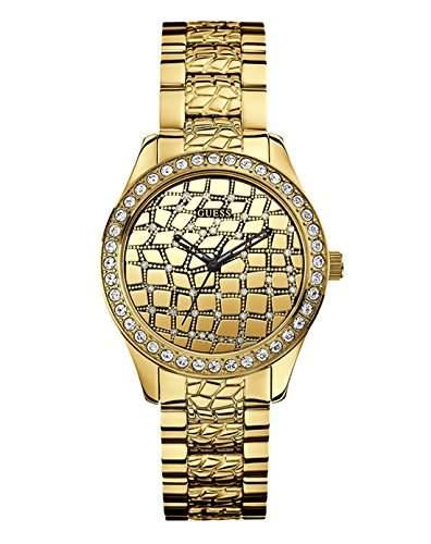 Guess Damen-Armbanduhr Analog Quarz Edelstahl W0236L2