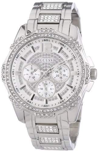Guess Damen-Armbanduhr Analog Quarz Edelstahl W0286L1