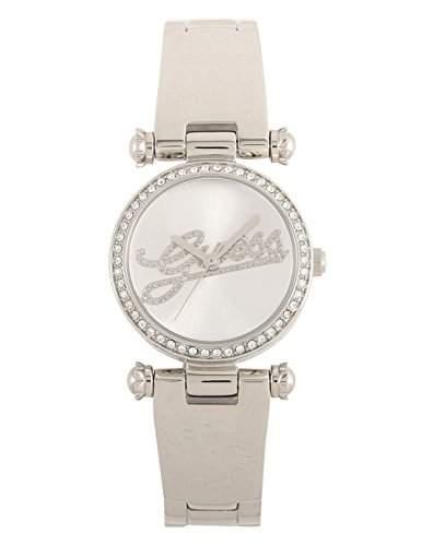 Guess-w0287l1Damen-Armbanduhr 045J699Analog silber Armband Stahl weiss