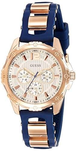 Guess Damen-Armbanduhr Analog Quarz Silikon W0325L8