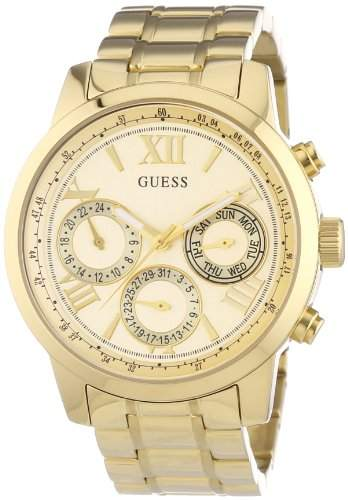 Guess Damen-Armbanduhr Analog Quarz Edelstahl W0330L1