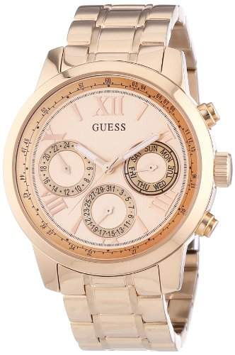 Guess Damen-Armbanduhr Analog Quarz Edelstahl W0330L2