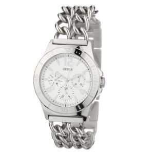 Guess Damen-Armbanduhr Analog Quarz Edelstahl W0439L1