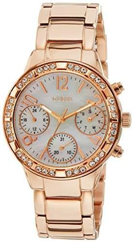 Guess Damen-Armbanduhr Analog Quarz Edelstahl W0546L3