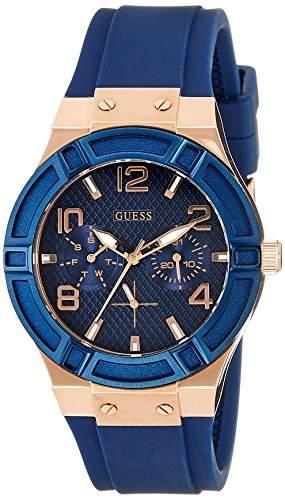 Guess Damen-Armbanduhr Analog Quarz Silikon W0571L1