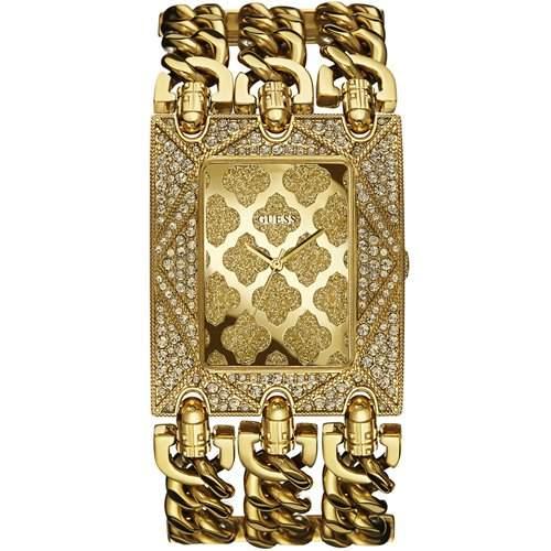 Guess Ladies Jewelry Damenuhr Analog Quartz Edelstahl Gold W0580L1