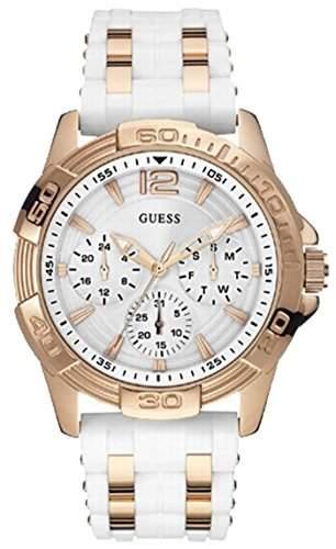 Guess Damen-Armbanduhr Analog Quarz Silikon W0615L1