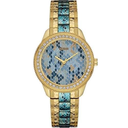 Guess Damen-Armbanduhr Analog Quarz Edelstahl W0624L1