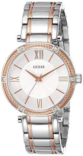 Guess Damen-Armbanduhr Analog Quarz Edelstahl W0636L1