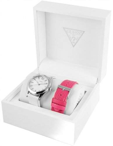 Guess Damen-Armbanduhr Analog Quarz Leder W12106L1