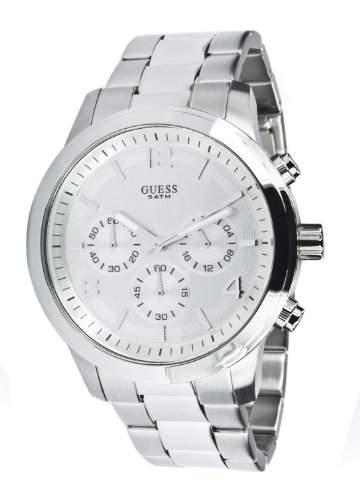 Guess Damen-Armbanduhr XL Analog Quarz Edelstahl W12605L1