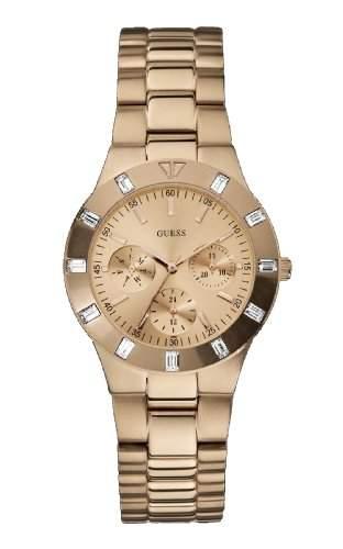 Guess Damen-Armbanduhr Analog Quarz Edelstahl W16017L1