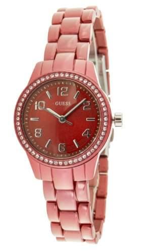 Guess Damen-Armbanduhr XS Analog Quarz Edelstahl W80074L3