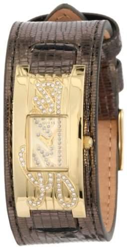 Guess Damen-Armbanduhr XL Analog Leder W90056L1