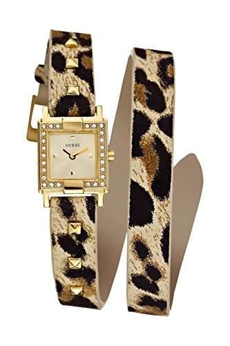 Guess Damen-Armbanduhr XS Analog Quarz Leder W95146L1