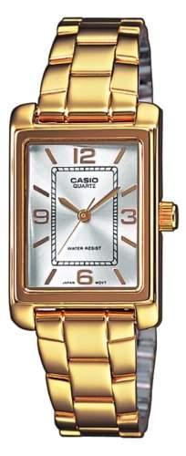 Casio Damen-Armbanduhr XS Analog Quarz Edelstahl LTP-1234G-7AEF