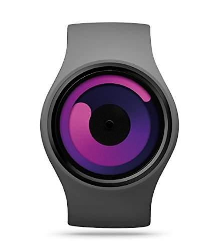ZIIIRO Gravity Unisex Uhr flexibles Silikonarmband grey - purple Armbanduhr