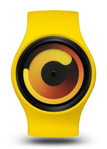 Ziiiro Gravity Unisex Silikon  Edelstahl Watch Banana wechselbare Uhr