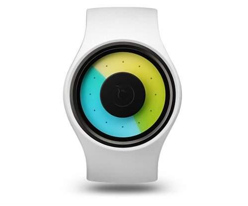 ZIIIRO Aurora Snow Unisex Uhr flexible Silikon Strap Watch