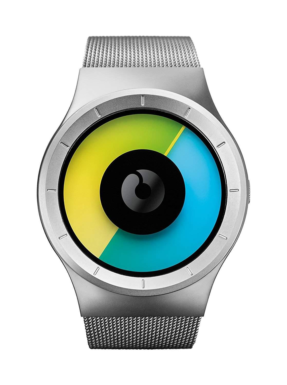 ZIIIRO Celeste Chrome Colored Unisex Uhr Edelstahl Meshband Uhr - designed in Germany