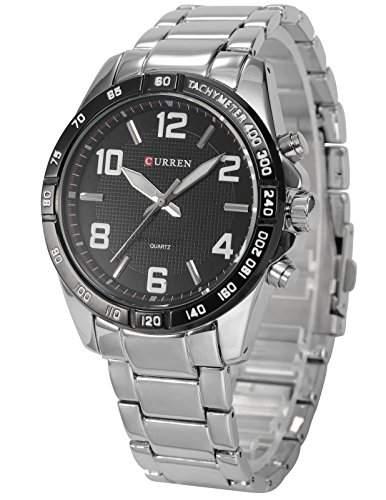AMPM24 Herren Armbanduhr Quarzuhr mit Silber Armband aus Metall CUR068