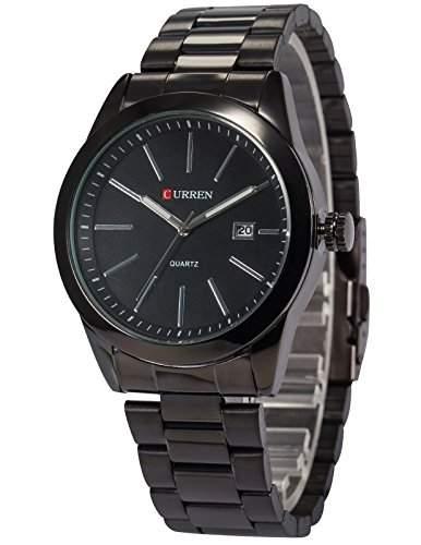 AMPM24 Herren Quarzuhr Schwarz Edelstahl Armband CUR096