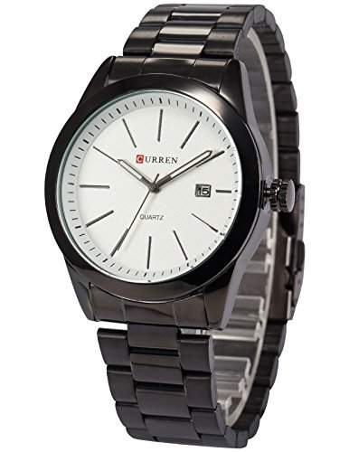 AMPM24 Herren Quarzuhr Schwarz Edelstahl Armband CUR097
