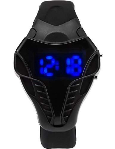 AMPM24 Herren Armbanduhr Blau LED DatumJahr 1224 Stunden Anzeige Schwarz Quarzuhr LED179