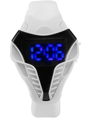 AMPM24 Herren Armbanduhr Blau LED DatumJahr 1224 Stunden Anzeige Weiss Quarzuhr LED180