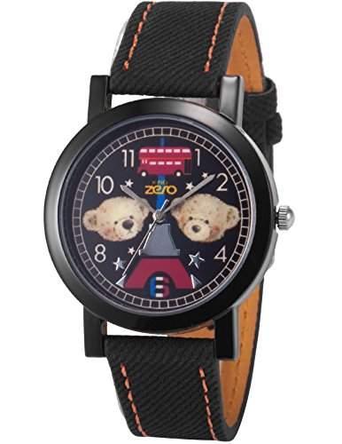 AMPM24 Unisex Quarzuhr Analog Junge Kinder Leder Armbanduhr PHN009