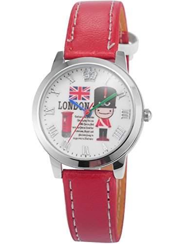 AMPM24 Unisex Quarzuhr Weiss Zifferblatt Analog Leder Armband PHN013