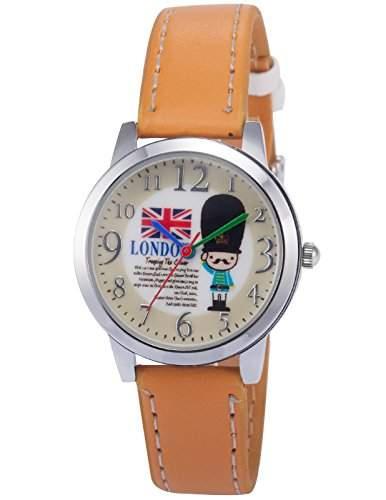 AMPM24 Unisex Quarzuhr Weiss Zifferblatt Analog Leder Armband PHN015