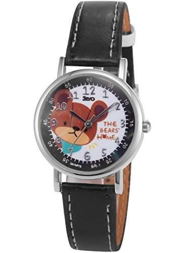 AMPM24 Unisex Quarzuhr Weiss Zifferblatt Analog Leder Armband Baer PHN017