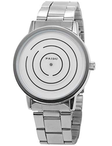 AMPM24 PHN024 Herren Armbanduhr Quarzwerk Weiss Zifferblatt Legierung Armband