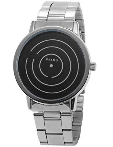 AMPM24 PHN025 Herren Armbanduhr Quarzwerk Schwarz Zifferblatt Legierung Armband