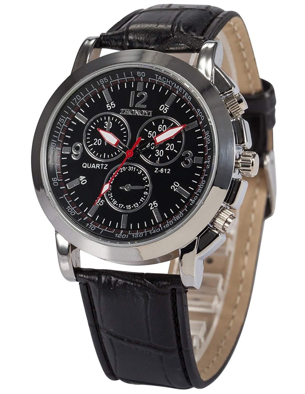 AMPM24 Herren Uhr Quarz Kunstleder Armband Schoene Armbanduhr PHN057