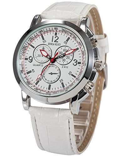AMPM24 Herren Uhr Quarz Kunstleder Armband Schoene Armbanduhr PHN058
