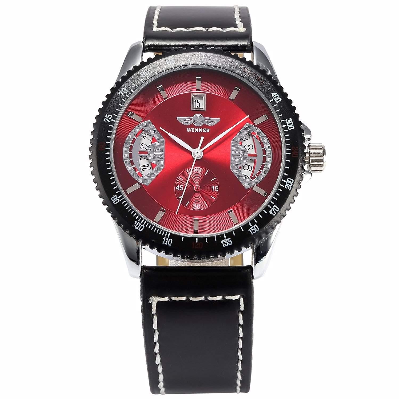 AMPM24 Elegante Klassisch mechanische Handaufzug Herrenuhr Armbanduhr Uhr + AMPM24 Geschenkbox PMW009