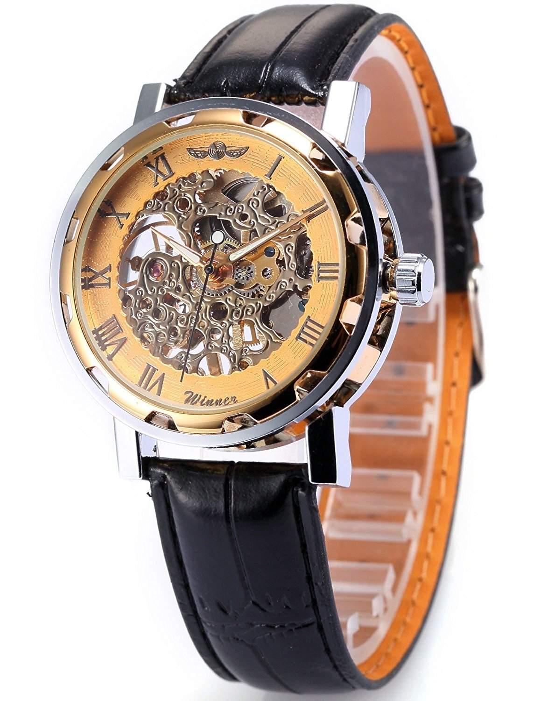 AMPM24 Skelett Elegante Klassisch mechanische Handaufzug Herrenuhr Armbanduhr Uhr PMW029
