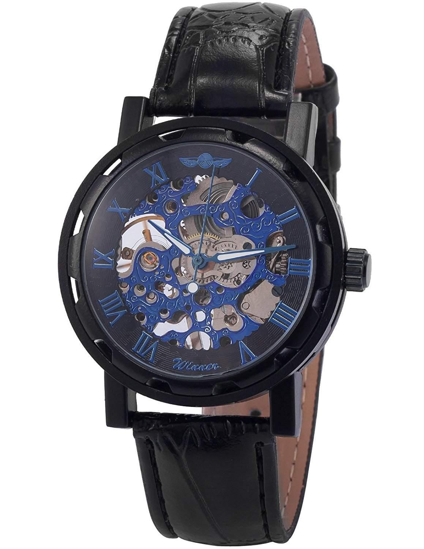 AMPM24 Skelett Elegante Klassisch mechanische Handaufzug Herrenuhr Armbanduhr Uhr PMW030