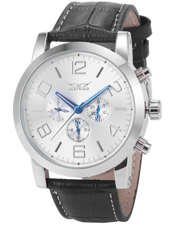 AMPM24 Elegante 6 Zeiger Klassisch mechanische Herrenuhr Armbanduhr Uhr + AMPM24 Geschenkbox PMW042