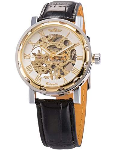 AMPM24 Skelett Elegante Klassisch mechanische Handaufzug Herrenuhr Armbanduhr Uhr + AMPM24 Geschenkbox PMW069