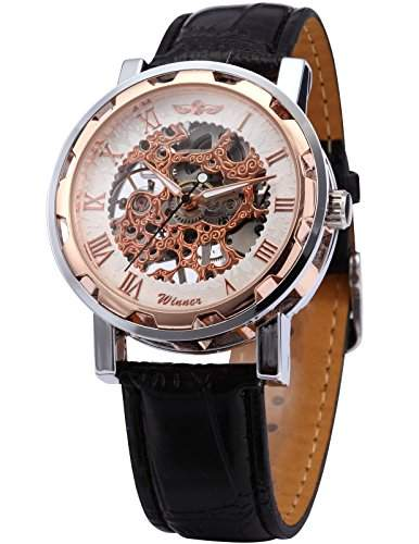 AMPM24 Skelett Elegante Klassisch mechanische Handaufzug Herrenuhr Armbanduhr Uhr PMW070