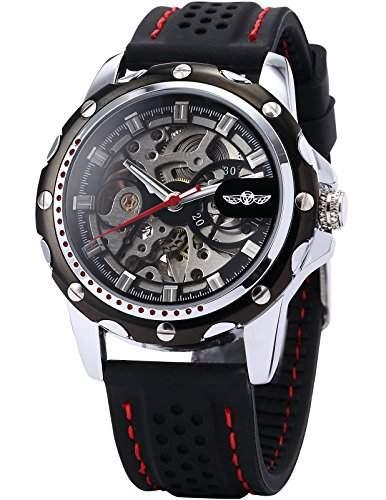 AMPM24 Skelett Elegante Klassisch mechanische Automatik Herrenuhr Armbanduhr Uhr + AMPM24 Geschenkbox PMW081