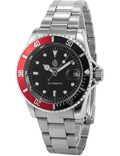AMPM24 Elegante Klassisch mechanische Automatik Herrenuhr Armbanduhr Uhr + AMPM24 Geschenkbox PMW113