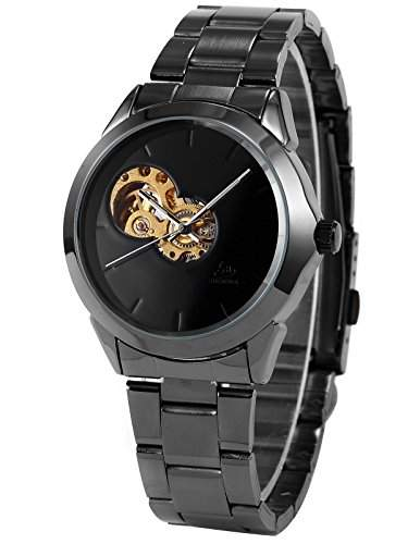 AMPM24 Herrenuhr Automatikuhr Armbanduhr Mechanisch Herren Uhr Skelettuhr + AMPM24 Geschenkbox PMW114