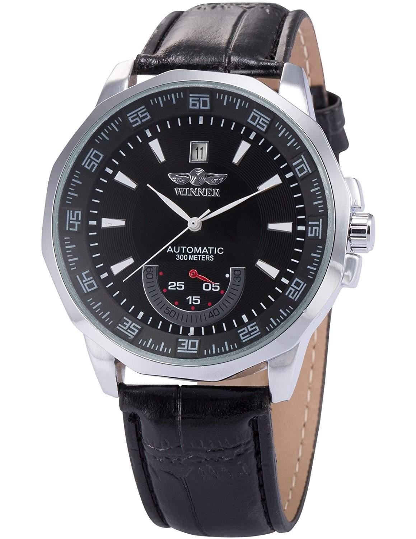 AMPM24 Elegante Klassisch mechanische Handaufzug Herrenuhr Armbanduhr Uhr PMW011